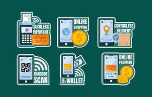 Contactless Payment Sticker vector