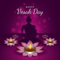 Vesak Day with Purple Background vector