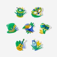 Cute Rio Festival Sticker vector