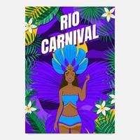 cartel de la bailarina del festival de río vector