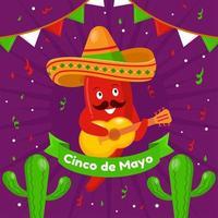 Happy Cinco De Mayo Background vector