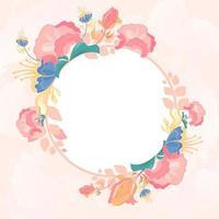 hermoso fondo de flor rosa vector