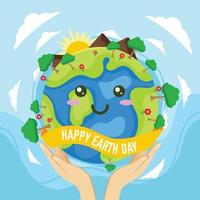 Mother Earth Day Background vector