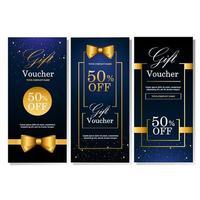 Luxury Gift Voucher Template vector