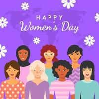 Women's Day in Flat Design Style vector