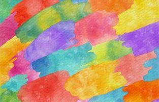 Fondo de acuarela en coloridos trazos abstractos. vector