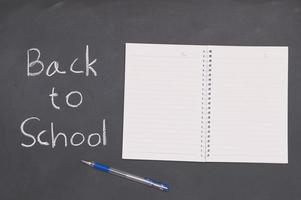 Back to school and education concept book and pen