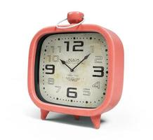 Retro alarm clock isolated on a white background in 3D rendering