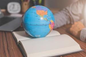 The world concept of book learning photo