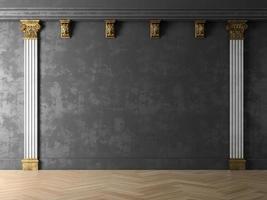 Interior design of a modern room in 3D illustration