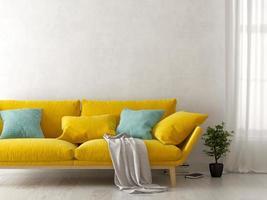 diseño de interiores de una habitación moderna en 3d ilustración