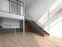 Empty modern interior room in 3D illustration photo