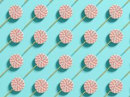 Punchy pastel lollipops abstract background in 3D illustration photo
