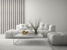 Interior modern design room in 3D rendering