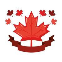 Maple leaf of canada design vector