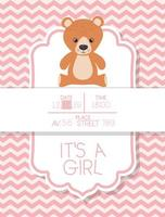 its a boy baby shower card with teddy bear