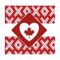 Maple leaf of canada frame design vector