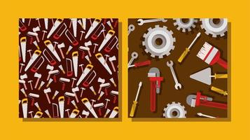 set of tools construction pattern vector