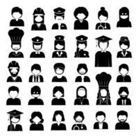 profesiones y ocupaciones diversas, ilustración vectorial vector