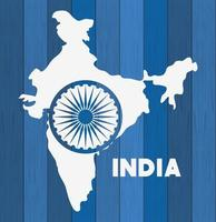 indian map independence day icon vector