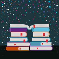 grupo de libros, diseño, vector, ilustración vector