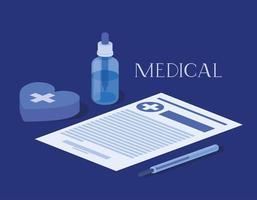 Ilustración de vector de icono de drogas de botella de medicina