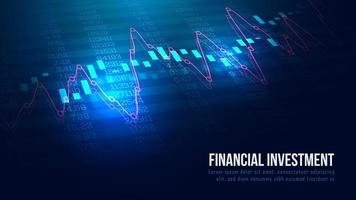 Stock market or forex trading graph in graphic concept vector