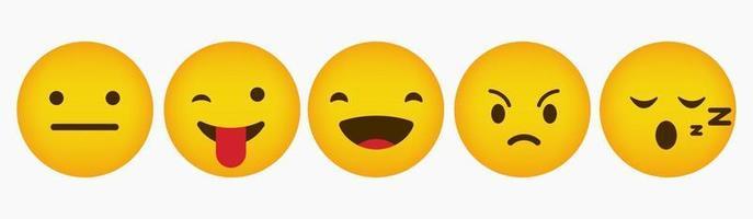 Reaction Design Flat Emoticon Collection vector