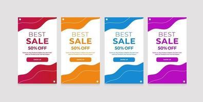 diseño moderno estilo abstracto líquido - mejor venta 50 de descuento vector