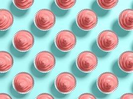 Cupcakes pastel punchy resumen de antecedentes en la ilustración 3d foto