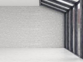 Interior de una habitación vacía en 3D. foto