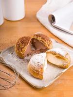 Sliced choux desserts