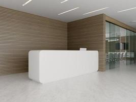 Interior of a reception and meeting room in 3D illustration