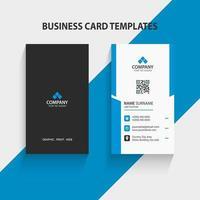 plantilla de tarjeta de visita vertical moderna. diseño de papelería, diseño plano, plantilla de impresión, ilustración vectorial. vector