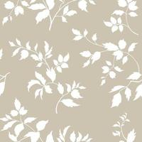Floral seamless pattern. Branch with leaves ornament. Flourish nature garden textured background vector