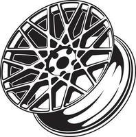 Ilustración de rueda de coche para diseño conceptual. vector