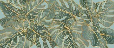 Floral leaves pattern. Foliage garden background. Floral ornamental tropical nature summer palm leaves decorative retro style wallpaper vector