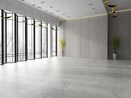 Interior de la recepción del vestíbulo de un hotel en la ilustración 3d foto
