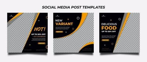 Food Menu Promotion templates. Sale and Discount background. Suitable for social media post and web internet ads. vector