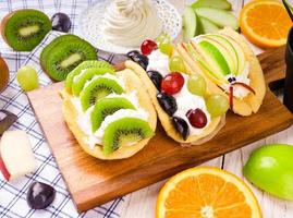 Fresh fruit tacos photo