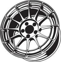 Ilustración de rueda de coche para diseño conceptual vector