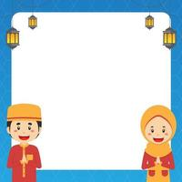 Ramadhan Greeting Background with Blank Board vector
