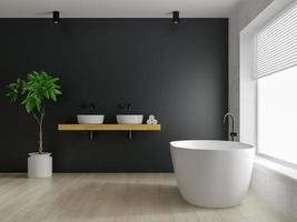 Interior of a modern bathroom in 3D rendering