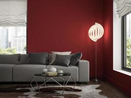 sala de diseño moderno interior en representación 3d