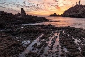 Sunset on a beautiful coast photo