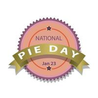 national Pie Day Sign vector