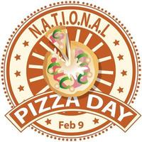 National Pizza Day Sign vector