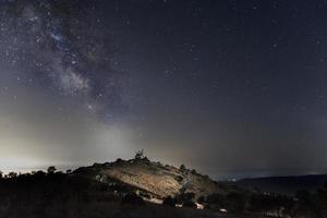 The Milky Way and the windmill photo