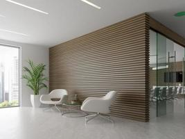 Interior of a reception and meeting room in 3D illustration photo