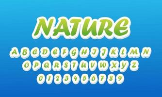 vector de alfabeto fuente estilizada